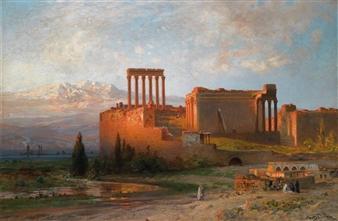 Ernst Karl Koerner 1846-1927 Huile sur toile 100x151cm