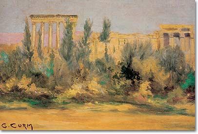 Georges Corm-Peintre Libanais-1896-1971 Huile 20x25cm-1920