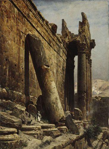 Gustav Bauernfeind 1848-1904  huile 59x92 cm-1882
