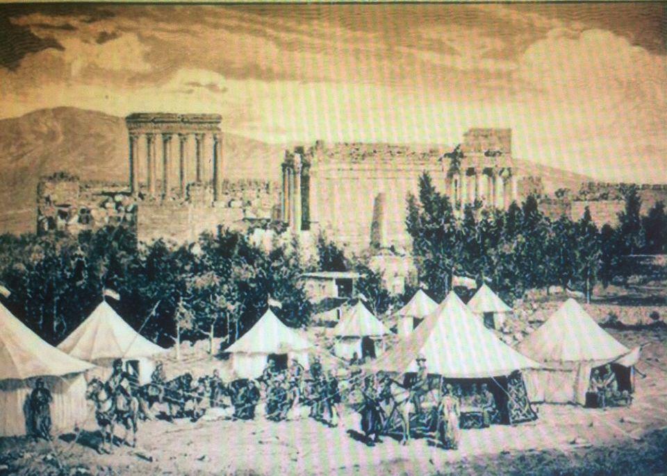 Campement Guillaume II devant les temples de Baalbeck - Photo de Gaby Daher