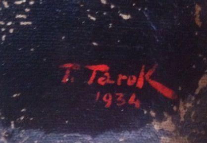 Signature Toufic Tarek sur portrait Mme. Sfeir