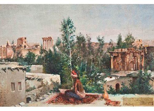 Leonardo de Mango 1843-1931- Huile sur carton 18x28cm-1882