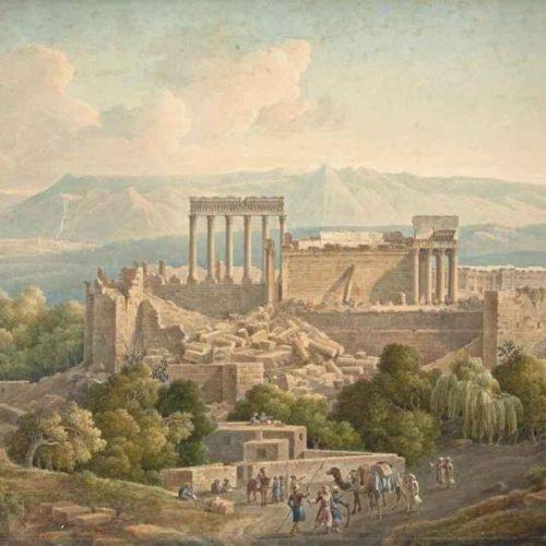 Louis Francois Cassas 1756-1827 aquarelle 65x90 cm -1785