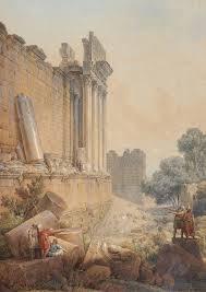 Louis-Francois Cassas -Temple de Bacchus