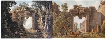 Louis Francois Cassas -Entrée Temple de Bacchus