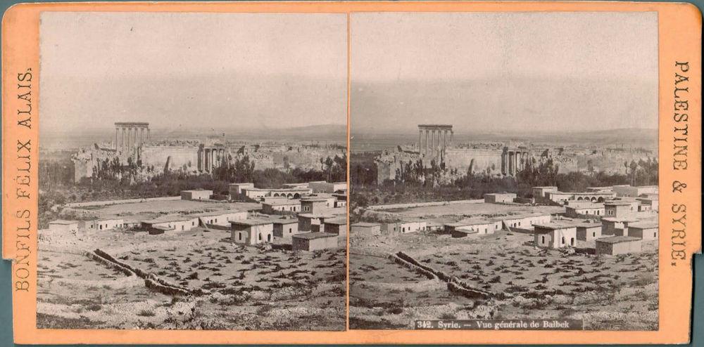 Vue générale de Baalbeck fin 19eme siècle-Photo Bonfils